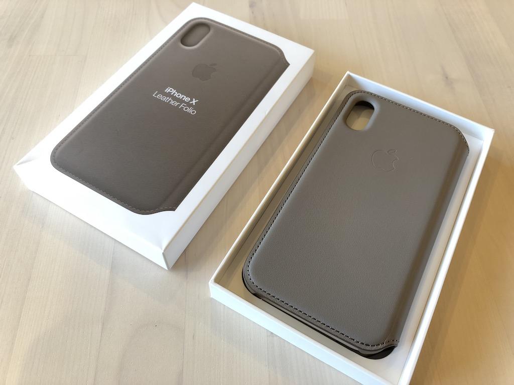 Apple純正ケース iPhone Xレザーフォリオ レビュー! 軽くて質感の高いケース